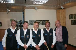 v.l. Paul Call, Michael Königs, Thomas Coenen, Carl Laschet und Helmut Bläser